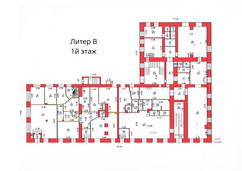 План 1 этажа литера В