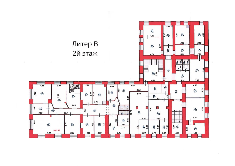 План 2 этажа литера В