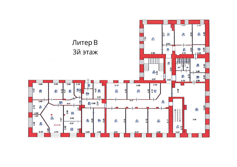 План 3 этажа корпуса В